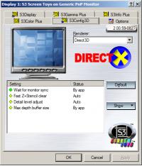 S3Config3D - Direct3D